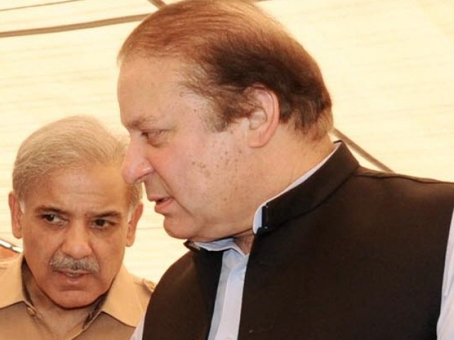 Sharif brothe­rs lash out agains­t govt after distri­buting 1,296 flat keys and increa­sing monthl­y labour wages. PHOTO: INP