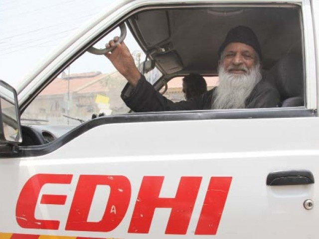 Abdul Sattar Edhi's foundation will transport the bags to the area. PHOTO: FILE
