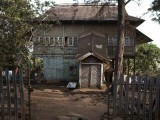 A former British colonial administration building with a covered stairway stands in the Hill Station neighbourhood of Sierra Leone's capital Freetown April 25, 2012. Alongside the Krio Board Houses, the Hill Station area of Freetown is home to another set of striking timber dwellings with a different history. PHOTO: REUTERS