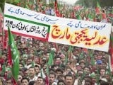 PTI organises 'judiciary solidarity rally' in Islamabad on May 6. PHOTO : MYRA IQBAL