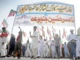 PTI organises 'judiciary solidarity rally' in Islamabad on May 6.. PHOTO: QAZI USMAN/EXPRESS