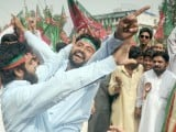 PTI organises 'judiciary solidarity rally' in Islamabad on May 6. PHOTO: QAZI USMAN/EXPRESS