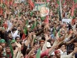 PTI organises 'judiciary solidarity rally' in Islamabad on May 6. PHOTO: NNI