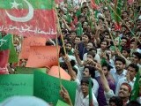 PTI organises 'judiciary solidarity rally' in Islamabad on May 6. .PHOTO: NNI