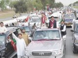 PTI organises 'judiciary solidarity rally' in Islamabad on May 6. PHOTO: SANA