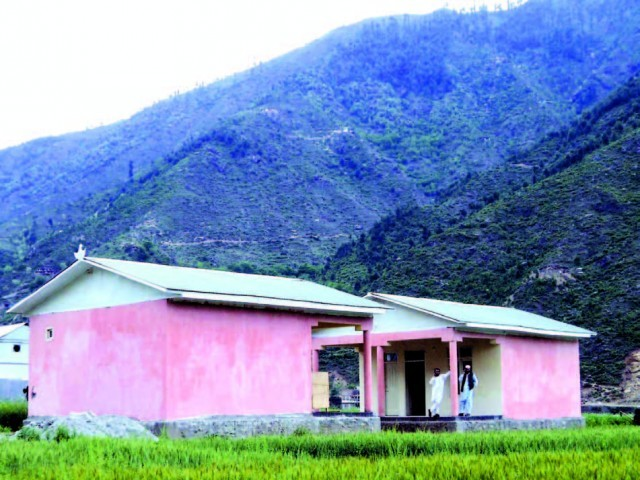 A view of other newly-built houses in the village. PHOTO: FAZAL KHALIQ