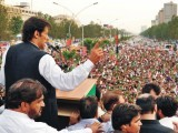 PTI Chairm­an calls on Nawaz Sharif to take brave decisi­ons, quit the govern­ment. PHOTO: PTI CENTRAL MEDIA CELL