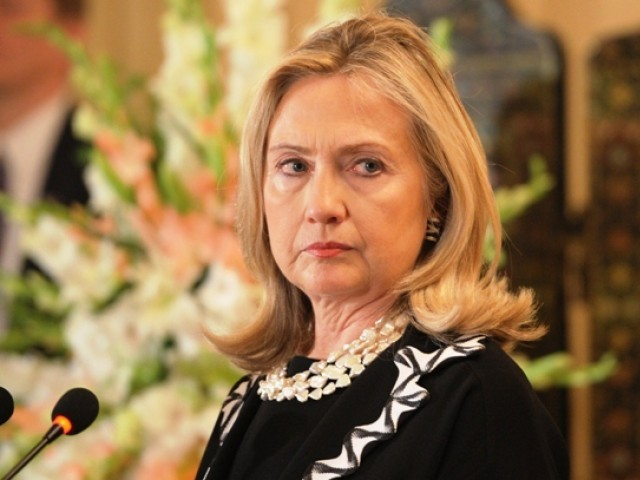 Clinton also said that Pakistan has not taken necessary action against Hafiz Saeed. PHOTO: AFP/FILE