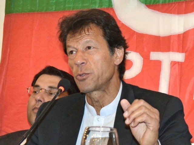 Khan had been invited by PTI's student wing, Insaf Students Federation (ISF), to address students from different institutions. PHOTO: INP/FILE