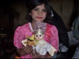 """Baji, will you come to my doll's wedding?"" 11-year-old Shakila Rani asked, her eyes so bright and innocent, one almost missed the glint of resilience in them, garnered from the hard life of a squatter community.  PHOTO: MYRA IQBAL/ THE EXPRESS TRIBUNE"