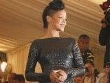 "Singer Rihanna arrives at the Metropolitan Museum of Art Costume Institute Benefit celebrating the opening of ""Schiaparelli and Prada: Impossible Conversations"" exhibition in New York, May 7, 2012. PHOTO: REUTERS"