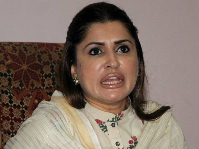 PPP's Shazia Marri had called Shah Mardan Shah a GHQ agent.  PHOTO: EXPRESS/IRFAN ALI