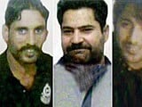 Mugshots of the three men released by Indian security agencies to the media on Wednesday.