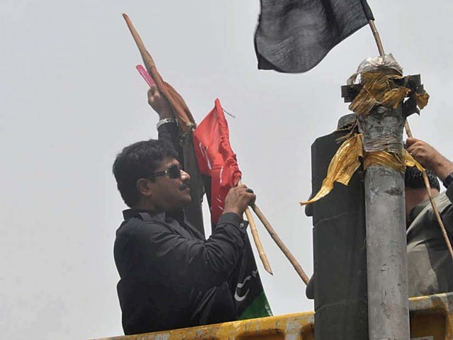 The idea behind removing the flags was to avert clashes between activists who used them as markers of street power.