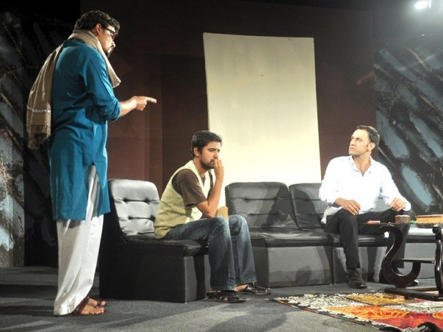 "The director and actors of ""Art"" feel the Karachi audience prefer well known theatre acts over the lesser known ones. PHOTO: PUBLICITY"