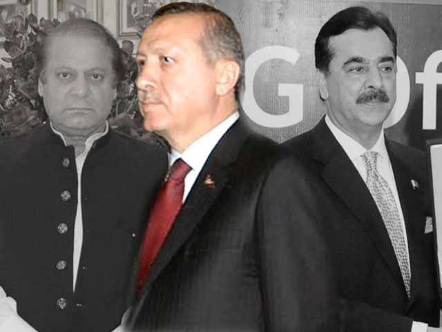 The Turkish prime minister addressed simmering tensions between the ruling Pakistan Peoples Party and the main opposition Pakistan Muslim League-Nawaz. PHOTO: FILE