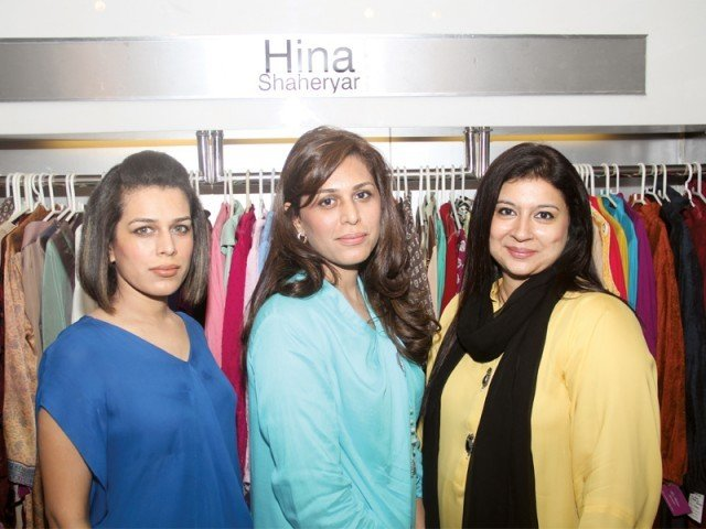 Maria, Hina Shaheryar and Najia.PHOTO COURTESY IDEAS PR