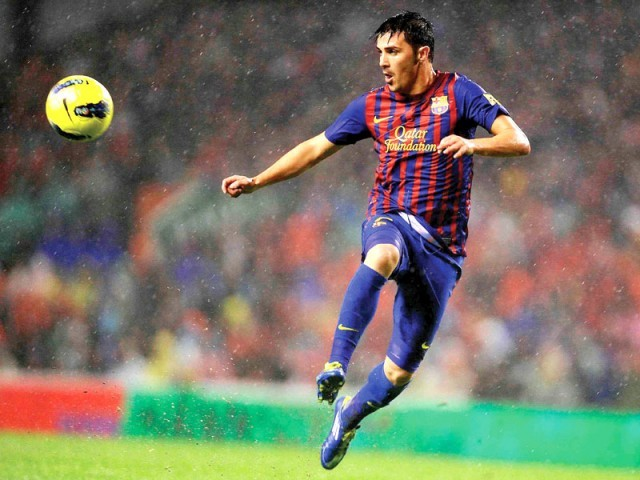 Villa's skills were key to Barcelona and Spain's success in the recent years. PHOTO: AFP