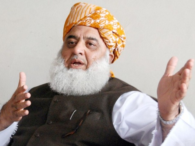 Maulana Fazlur Rahman contends move will be against national interest. PHOTO: INP/FILE