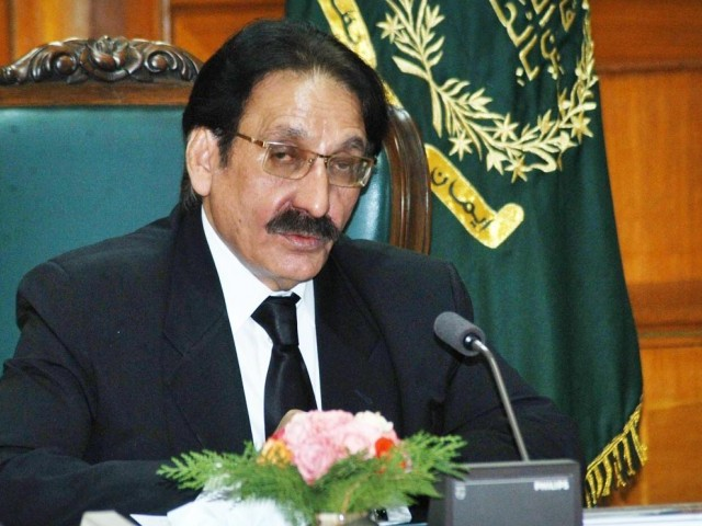 """ The judiciary is an organ of the state. It'll not allow violation of the Constitution. We want to save Pakistan, Chief Justice Iftikhar Muhammad Chaudhry. PHOTO: FILE"