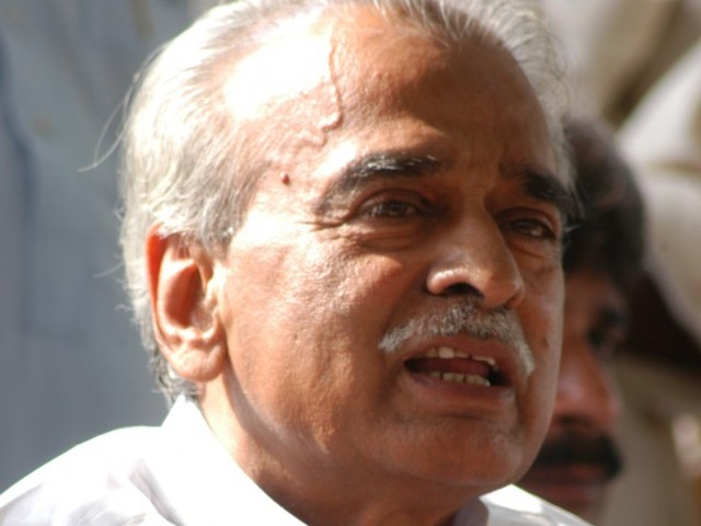 Ghulam Mustafa Khar, who was one of the founders of the PPP, has joined the PML-F. PHOTO: EXPRESS/FILE