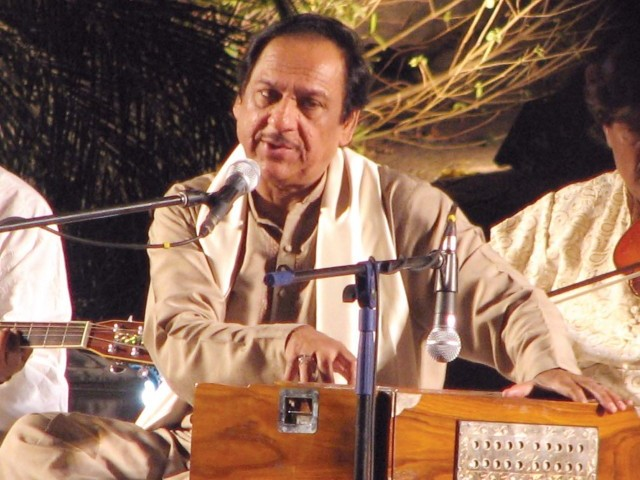 """ Even though the singer is the star in the ghazal tradition, he or she is nothing without the accompanying musicians,"" Ghazal singer Ghulam Ali. PHOTO-FILE"