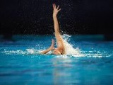 Turkish Tugce Tanis competes in the final solo during the European Swimming Championships, on May 26, 2012 in Eindhoven. PHOTO: AFP