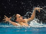 Russian's Natalia Ishenko competes in the final solo during the 31st LEN European Swimming Championships, on May 26, 2012 in Eindhoven. PHOTO: AFP