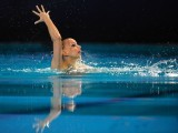 Austria's Nadine Brandl competes in the final solo during the European Swimming Championships, on May 26, 2012 in Eindhoven. PHOTO: AFP