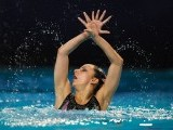 Greek Despoina Solomou competes in the final solo during the 31st LEN European Swimming Championships, on May 26, 2012 in Eindhoven. PHOTO: AFP