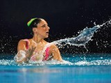 Italian Linda Cerruti competes in the final solo during the European Swimming Championships, on May 26, 2012 in Eindhoven. PHOTO: AFP