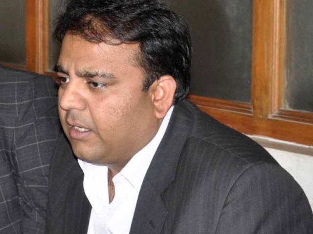 Fawad said if the PML-N and PTI file petitions challenging the speaker's ruling, the Supreme Court would dismiss them in the initial hearing. PHOTO: WASEEM NIAZ/EXPRESS/FILE