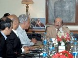 Memon was giving a presentation during a meeting held at Chief Minister House on Tuesday. PHOTO: APP