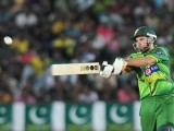 Afridi plays a shot. PHOTO : AFP