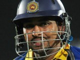 Tillakaratne Dilshan reacts after being dismissed. PHOTO : AFP