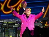 British singer-songwriter Elton John performs during the Queen's Diamond Jubilee Concert at Buckingham Palace in London on June 4, 2012. PHOTO: AFP
