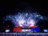 Buckingham Palace is illuminated by a fireworks display during the Diamond Jubilee Concert in London, on June 4, 2012. PHOTO: AFP