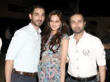 Shoaib, Mehreen Syed and Faraz.PHOTO COURTESY SAVVY PR AND EVENTS