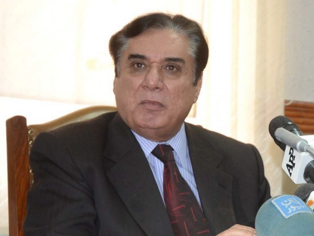 Justice (retd) Javed Iqbal addressing a press conference in Quetta on Saturday. PHOTO: PPI