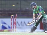 Pakistan's Azhar Ali is bowled out by Sri Lanka's Nuwan Kulasekara during their second one day international cricket match in Pallekele. PHOTO : REUTERS