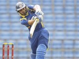 Sri Lanka's Tillakaratne Dilshan plays a shot during their second One Day International cricket match against Pakistan in Pallekele June 9, 2012. PHOTO: REUTERS