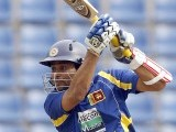Sri Lanka's Tillakaratne Dilshan plays a shot during their second One Day International (ODI) cricket match. PHOTO: REUTERS