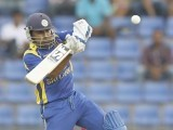 Sri Lanka's captain Mahela Jayawardene plays a shot during their second One Day International (ODI) cricket match against Pakistan. PHOTO: REUTERS