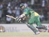 Azhar Ali plays a shot during their second One Day International (ODI) cricket match. PHOTO : REUTERS
