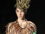 A model presents a creation during Sao Paulo Fashion Week Summer 2012/2013. PHOTO: AGENCIES