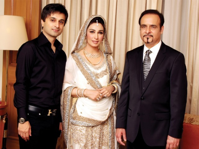Qasim Yar Tiwana with Reema and Dr Tariq Shahab.PHOTO COURTESY QYT EVENTS