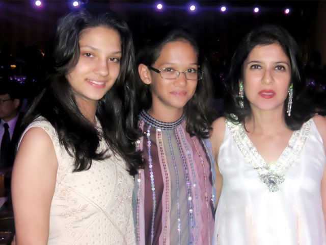 Meera Shoaib, Laleh Lodhi and Huma Lodhi.PHOTO COURTESY CATWALK PR