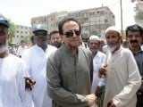 Actor Nadeem Ahmed arrives at the absentia funeral prayers held for Mehdi Hassan in Lahore. PHOTO: MOHAMMAD SAQIB