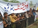 Residents of Islamabad protest against prolonged loadshedding. PHOTO: MUHAMMAD JAVAID/ THE EXPRESS TRIBUNE