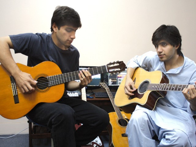 Musicians Asad and Jamshad are planning to release a few songs in the coming months. PHOTO: PUBLICITY